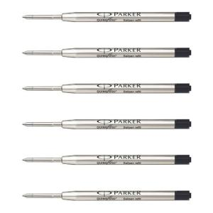 Ruột bút Parker QuinkFlow Ink Refill for Ballpoint Pens, Medium Point, Black Pack of 6 Refills (1782469)