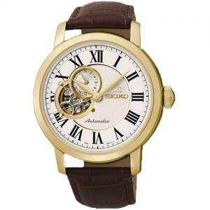 Đồng hồ Seiko Classic Automatic White Dial Brown Leather Mens Watch SSA232K1