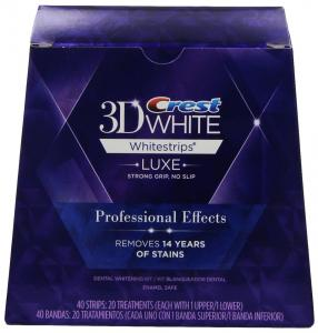 Làm trắng răng Crest 3D White Luxe Whitestrips Professional Effects - Teeth Whitening Kit 20 Treatments