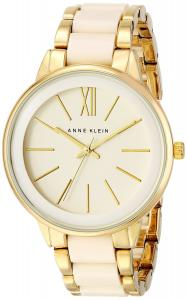 Đồng hồ Anne Klein Women's AK/1412IVGB Gold-Tone and Ivory Resin Bracelet Watch
