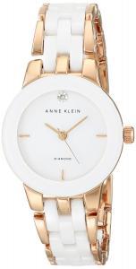 Đồng hồ Anne Klein Women's AK/1610WTRG Diamond Dial Rose Gold-Tone and White Ceramic Bracelet Watch