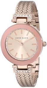 Đồng hồ Anne Klein Women's AK/1906RGRG Swarovski Crystal Accented Rose Gold-Tone Mesh Bracelet Watch