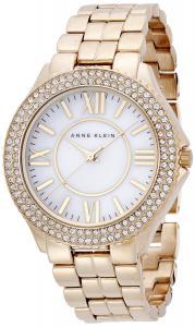 Đồng hồ Anne Klein Women's AK/1430MPGB Swarovski Crystal Accented Gold-Tone Bracelet Watch