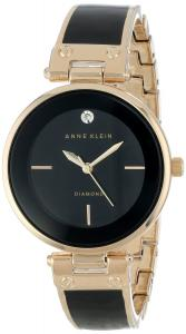 Đồng hồ Anne Klein Women's AK/1414BKGB Diamond-Accented Bangle Watch