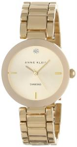 Đồng hồ Anne Klein Women's AK/1362CHGB  Diamond Dial Gold-Tone Bracelet Watch