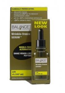 Balance Active Formula Wrinkle-Freeze Serum 30ml - Snake Venom - Like Peptide With 4% SYN - AKE -