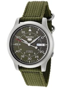 Đồng hồ nam Seiko Men's SNK805 Seiko 5 Automatic Green Canvas Strap Casual Watch