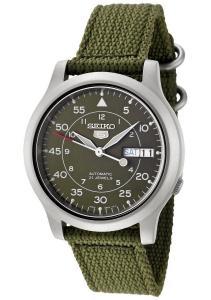 Đồng hồ nam Seiko Men's SNK805 Seiko 5 Automatic Green Canvas Strap Casual Watch
