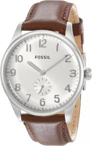 Fossil Men's FS4851 The Agent Three-Hand Leather Watch - Brown