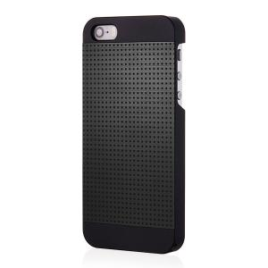 iPhone 5S Case, MOTOMO [Black] iPhone 5S Case Aluminum [Perforated Aluminum] Metal Cover Protective Case - Verizon, AT&T, Sprint, T-Mobile, International, and Unlocked - Case for Phone 5 / iPhone 5S - Retail Packaging - Black/Black (115SPCIMPAC-BK)