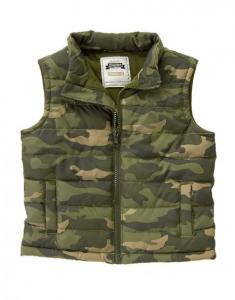 Áo Camo Puffer Vest