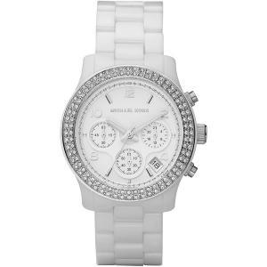 Michael Kors Women's White Ceramic Link Bracelet Quartz Chronograph Crystal MK5188