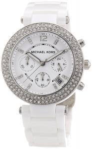 Michael Kors 'Parker' Chronograph Ceramic Bracelet Watch, 39mm