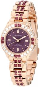 Đồng hồ nữ Armitron Women's 75/3689VMRG Amethyst Colored Swarovski Crystal Accented Rose Gold-Tone Watch