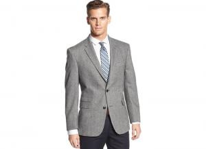 Áo vest Tommy Hilfiger Wool-Blend Herringbone Trim-Fit Sport Coat