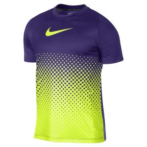 Nike Mens GPX Ghraphic Gradient Mens Soccer/Football Shirt Purple/Green