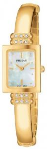 Đồng hồ nữ Pulsar Women's PEGA14 Crystal Dress Gold-Tone Mother-of-Pearl Watch