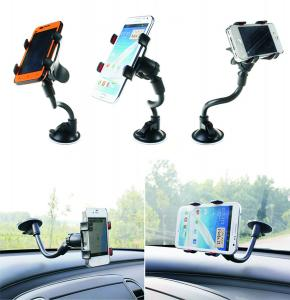 Water Asleep® One Touch Windshield Dashboard Universal Smartphone Car Mount Holder Cradle for Iphone 6 6+ 5 5s 5c 4 4s Samsung Galaxy S5 S4 S3 Note 3 and All Smartphones Gift Retail Package(black)