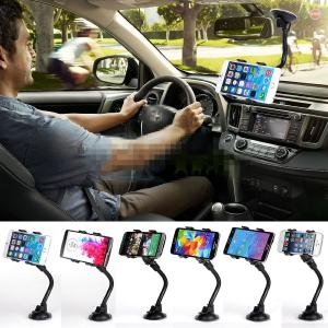 Universal Double Clip 360 Rotating Flexible Car Mount Bracket Cradle Holder Stand for Iphone, Ipod Touch, Samsung Galaxy, Samsung Galaxy Note, LG g2 G pro2, G3, LG flex, Blackberry Bold 9900