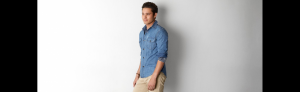 Áo sơ mi AEO Vintage Denim Workwear Shirt