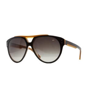 Just Cavalli JC 506/S 05F Black/Orange Oversized Retro Sunglasses
