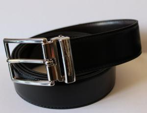 CALVIN KLEIN - Leather Belt for Men - Made in Italy