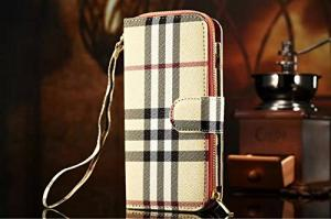 iPhone 6 4.7 inch Luxury PU Leather Flip Folio Case Handbag Purse Wallet Cover Card Holders Case with Zipper (Pattern 8)