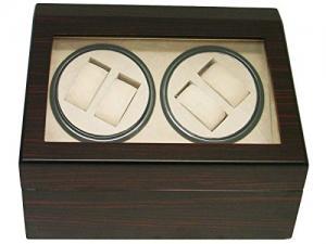 Hộp đựng đồng hồ 4+6 WALNUT WOOD AUTOMATIC QUAD WATCH WINDER DISPLAY STORAGE BOX