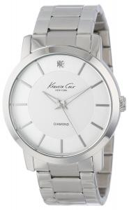Đồng hồ nam Kenneth Cole New York Men's KC9285 Rock Out Silver Dial Diamond Dial Analog Bracelet Watch