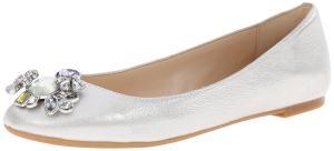 Nine West Women's Aranella Metallic Ballet Flat