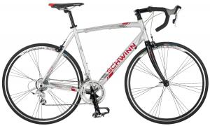 Schwinn Men's Phocus 1600 700C Drop Bar Road Bicycle, Silver, 18-Inch