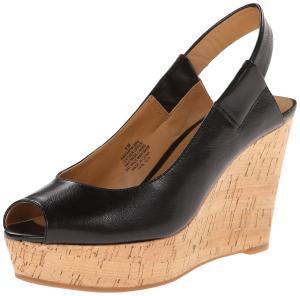 Nine West Women's Cantalope Leather Wedge Sandal