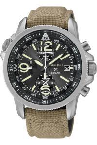 Đồng hồ nam Seiko SSC293P1 Prospex Men's Solar Military Alarm Chronograph 100m Water Resistant,SSC293