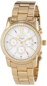 Đồng hồ nữ Invicta Women's 11771 Angel White Mother-Of-Pearl Dial Cubic Zirconia Accented 18k Gold Ion-Plated Stainless Steel Watch