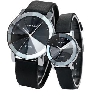 Đồng hồ cặp AMPM 2 Pcs Watches For Couple Lovers Mens Lady Women Leather Quartz Wrist Watch MIXSNB002