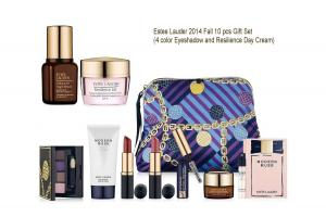 Bộ mỹ phẩm Estee Lauder Macy's 2014 Fall 10 pcs Gift Set (eyedhaow and Resilience) -- $165 Value