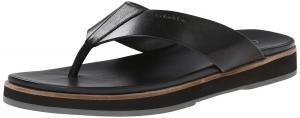 Calvin Klein Men's Deano Leather Flip-Flop