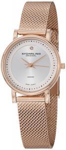Stuhrling Original Women's 734LM.05 Classic Ascot Casatorra Elite Rose-Tone Watch with Mesh Bracelet and Diamond Accent
