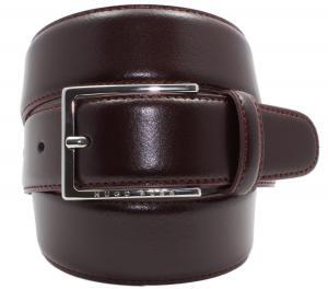 HUGO BOSS Leather Belt Mens Handmade in Italy