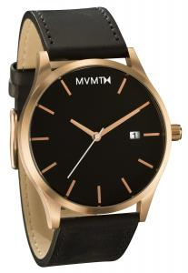 Đồng hồ nam MVMT Watches Rose Gold Case with Black Leather Strap Men's Watch