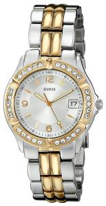 Đồng hồ nữ GUESS Women's U0026L1 Dazzling Sporty Silver & Gold-Tone Mid-Size Watch