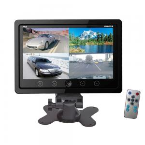 Pyle PLHRQD7B 7-Inch Quad TFT/LCD Video Monitor with Headrest Shroud,BNC and RCA Connectors - Black