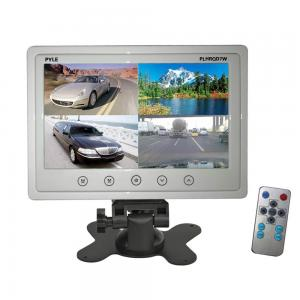 Pyle PLHRQD7W 7-Inch Quad TFT/LCD Video Monitor with Headrest Shroud,BNC and RCA Connectors - White