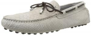 Just Cavalli Men's Snake Suede Leather Driver Boat Shoe