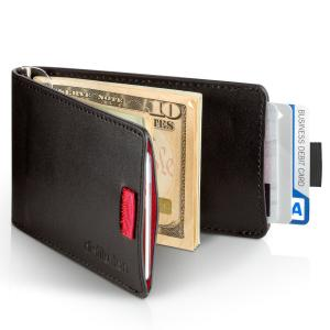 Distil Union Mens Wally Bifold Slim Leather Wallet with Money Clip