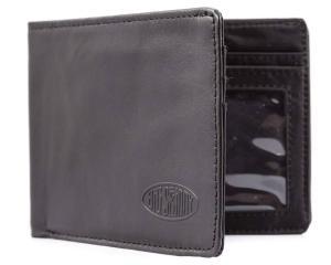 Big Skinny Men's Slimline Leather Bi-Fold Wallet, Black
