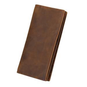 Kattee Vintage Look Genuine Leather Long Bifold Wallet
