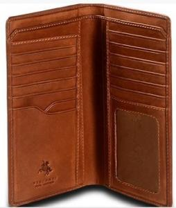 Visconti VICENZA VCN-20 Leather BIFOLD Tall Slim ID WALLET / Checkbook TRAVEL Wallet