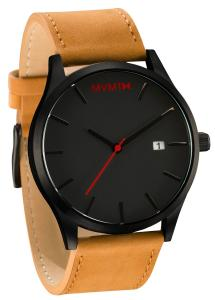 Đồng hồ nam MVMT Watches Black Face with Tan Leather Strap Men's Watch