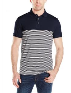 Nautica Men's Pieced-Stripe Polo Shirt